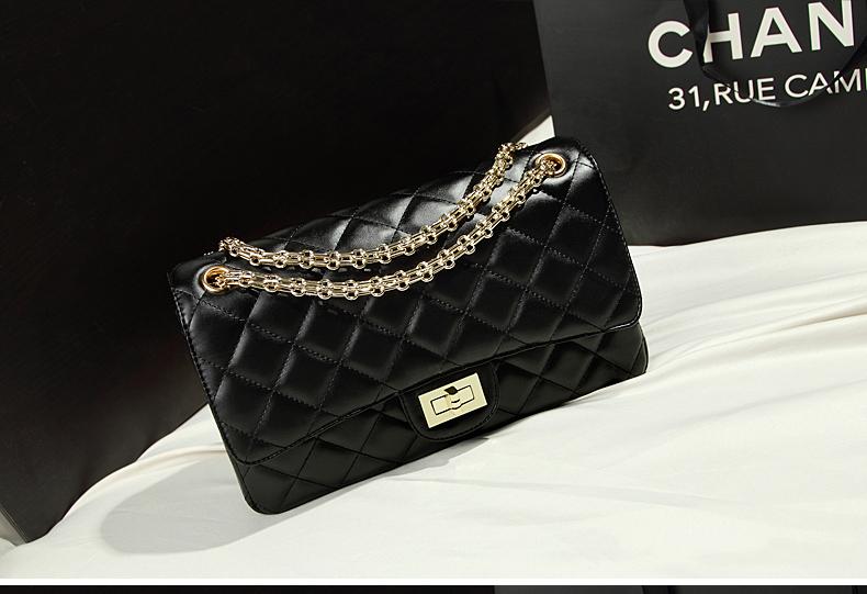 กระเป๋าหนังแกะ ชาแนลคลาสสิก โซ่ทอง Sale!! 60%