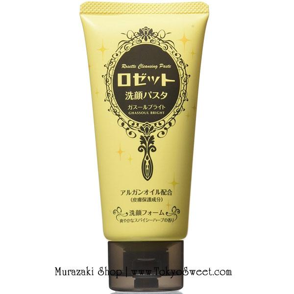 พร้อมส่ง ** Rosette cleansing paste Ghassoul Bright (หลอดสีเหลือง) ส่วนผสมที่สำคัญคือ Moroccan rhassoul powder and Argan oil จะเน้นเรื่องความกระจ่างใสเป็นพิเศษ ขนาด 120 กรัม