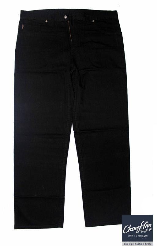 """40-60""""กางเกงขายาว ผู้ชายอ้วน #2745 ทรงกระบอก ผ้ายีนส์"""