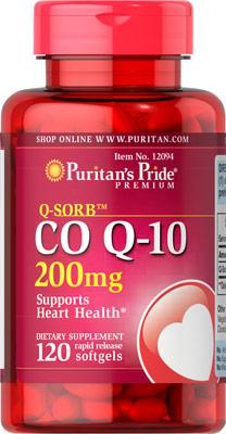 ลดริ้วรอย Puritan's Pride Co Q-10 ขนาดเข้มเข้น 200 mg จำนวน 120 เม็ด