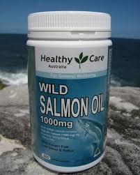 Healthy Care Wild Salmon Oil น้ำมันปลาแซลมอน 1000 mg 500 เม็ด