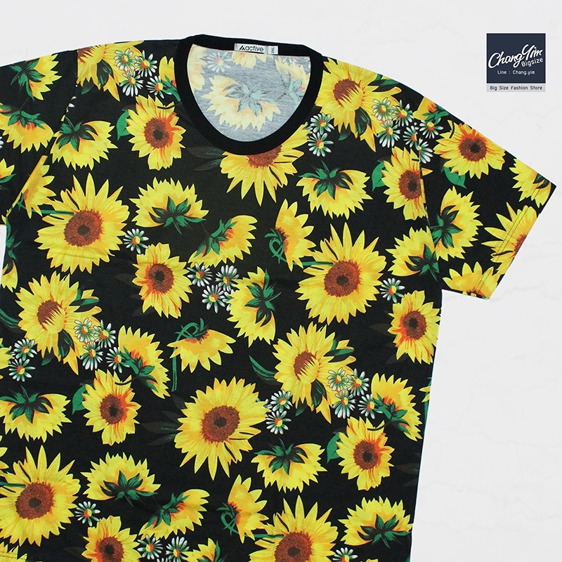 เสื้อยืดลายดอก-6 2XL 3XL 4XL