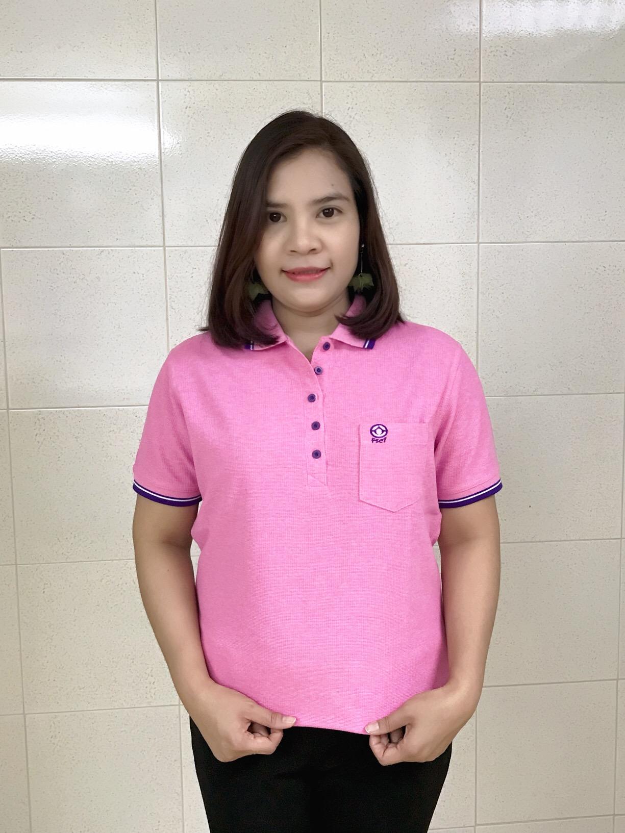 เสื้่อโปโลนาโน(ชมพูTD)