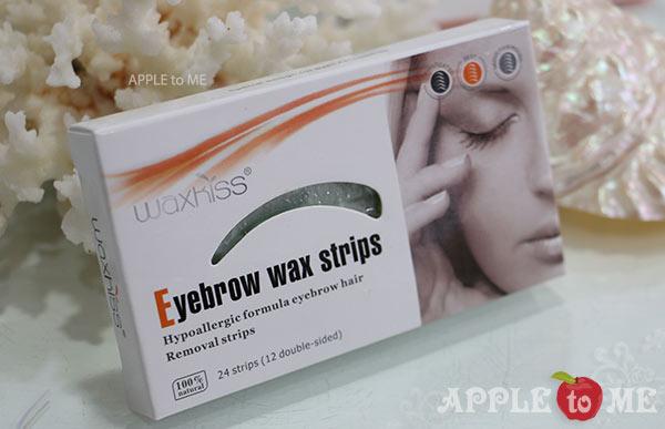 แผ่นแว็กซ์ขน คิ้ว พร้อมใช้ แบรนด์ WAXKISS (Strip wax)