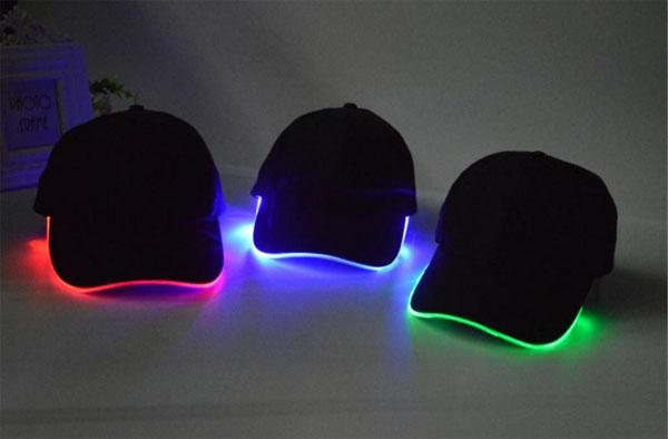 หมวก LED หมวกมีไฟกระพริบเรืองแสง