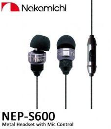 หูฟัง NAKAMICHI S600 มีไมค์และปุ่มรับสาย