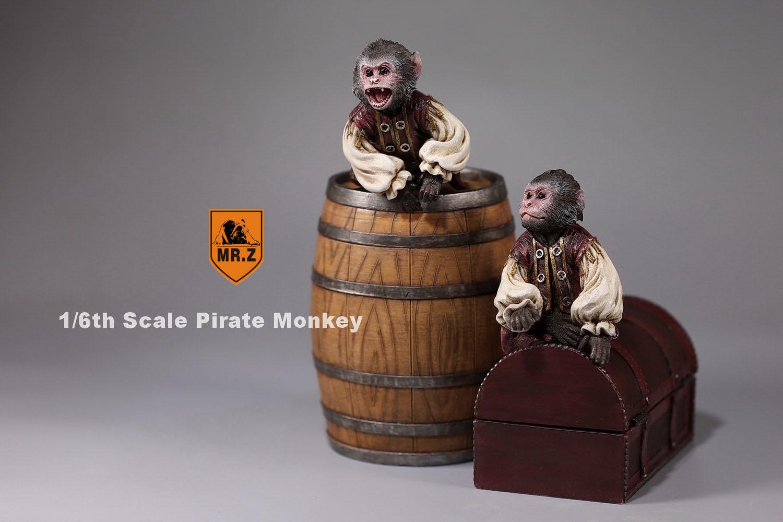 MRZ 1/6 Pirate Monkey Statue Set
