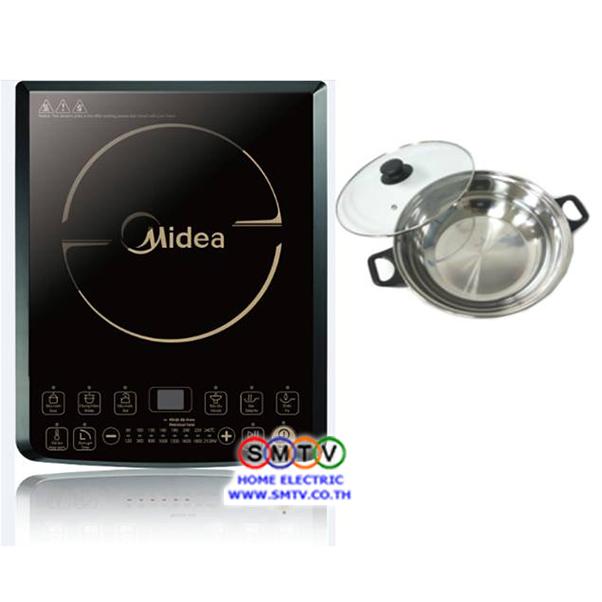 เตาแม่เหล็กไฟฟ้า MIDEA กำลังไฟ 2100 วัตต์ รุ่น MI-B2113DA