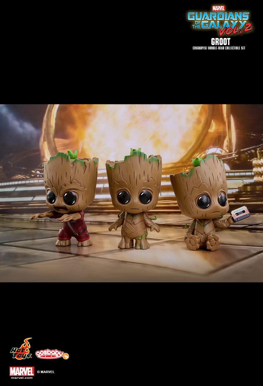 Hot Toys COSB360 GUARDIANS OF THE GALAXY VOL. 2 - GROOT SET