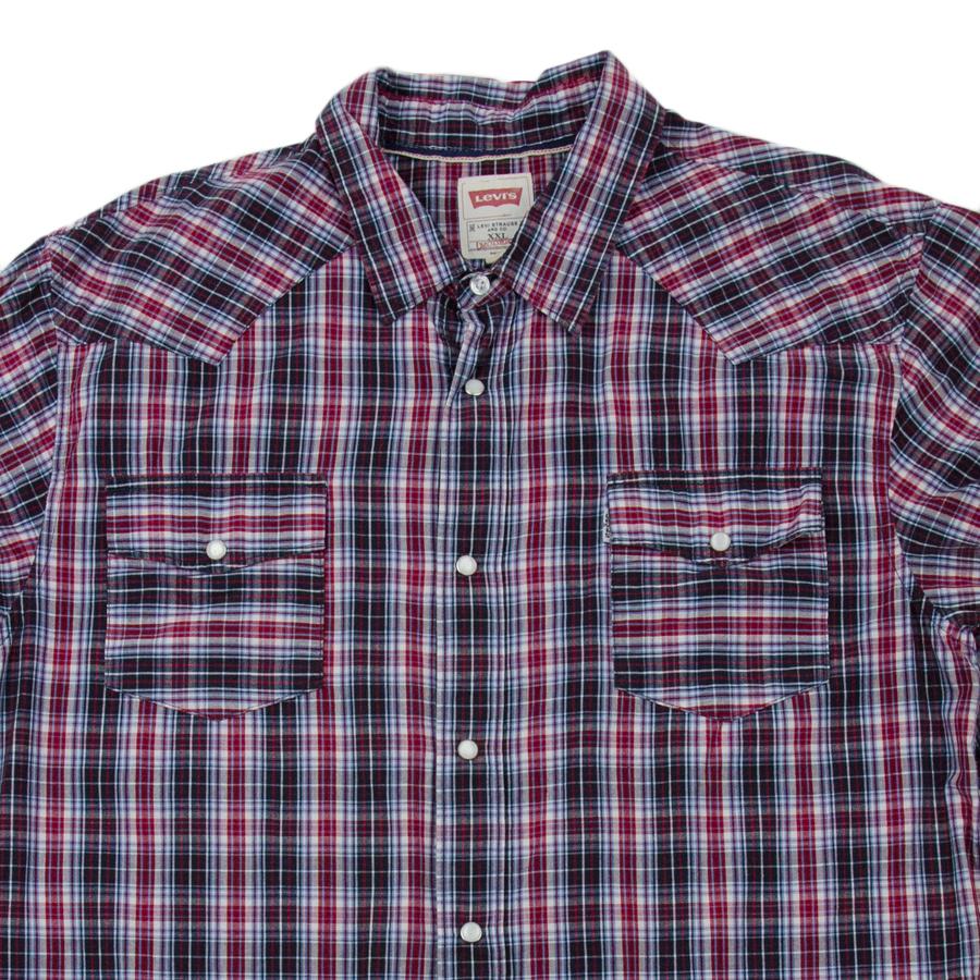 C2292 เสื้อเชิ้ตลายสก๊อตสีแดง Levis' ริมแดง