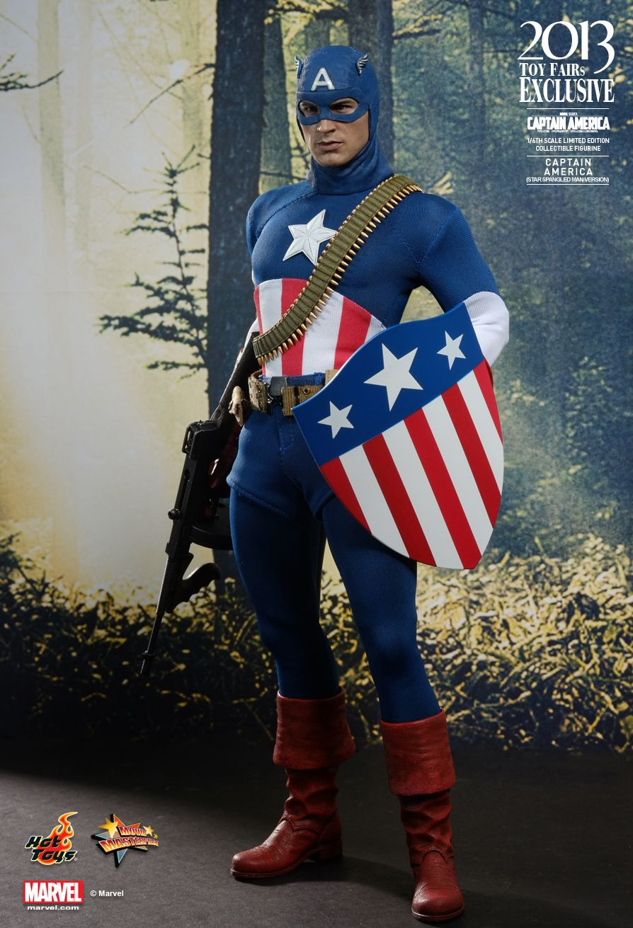 Hot Toys MMS205 CAPTAIN AMERICA: THE FIRST AVENGER - CAPTAIN AMERICA (STAR SPANGLED MAN VERSION)