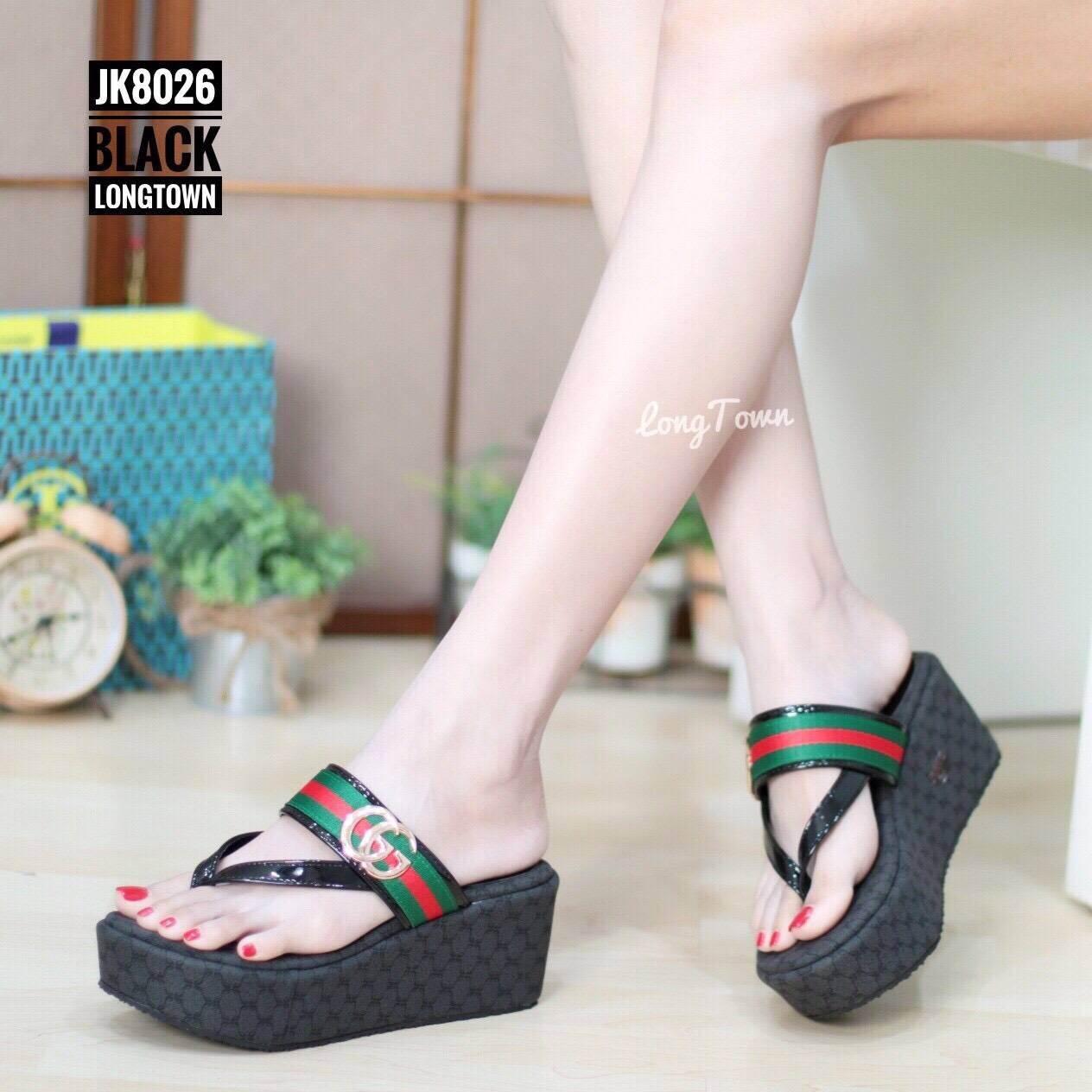 รองเท้าแตะคีบ Style Gucci (สีดำ)