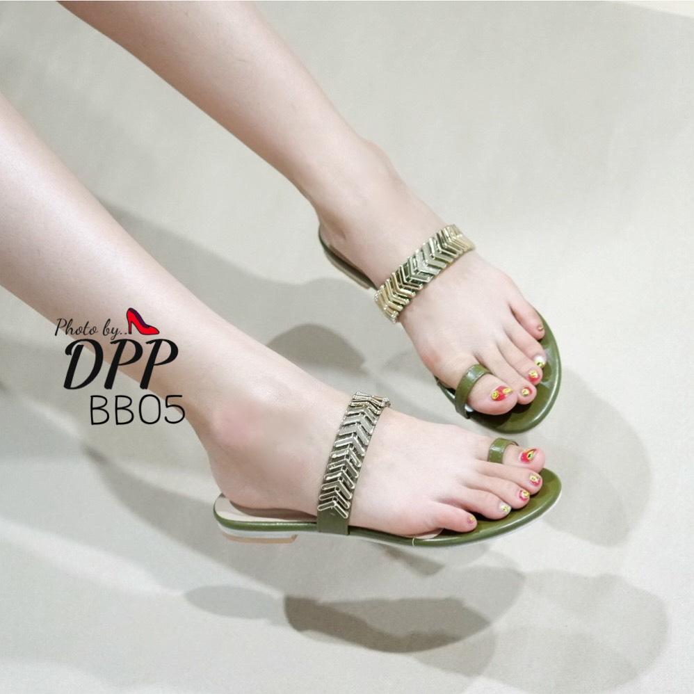 รองเท้าแตะคีบสไตล์ Terra (สีเขียว)