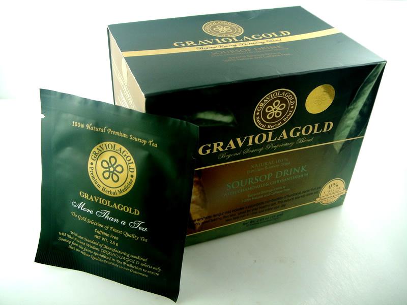 ชาใบทุเรียนเทศ GRAVIOLA GOLD ( เกรดพรีเมี่ยม มาตรฐาน ส่งออก )