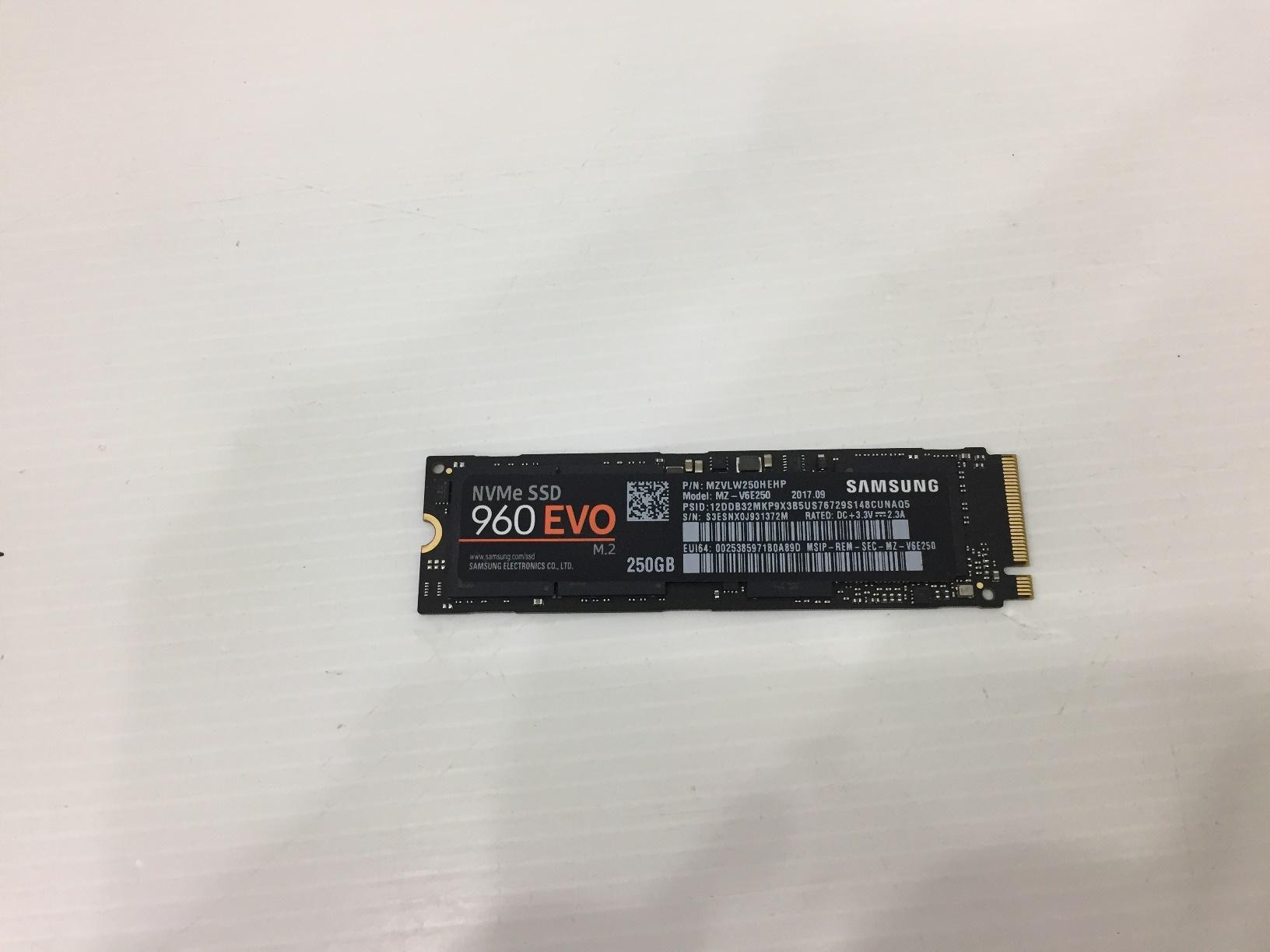 SAMSUNG 960 EVO M.2 250GB.