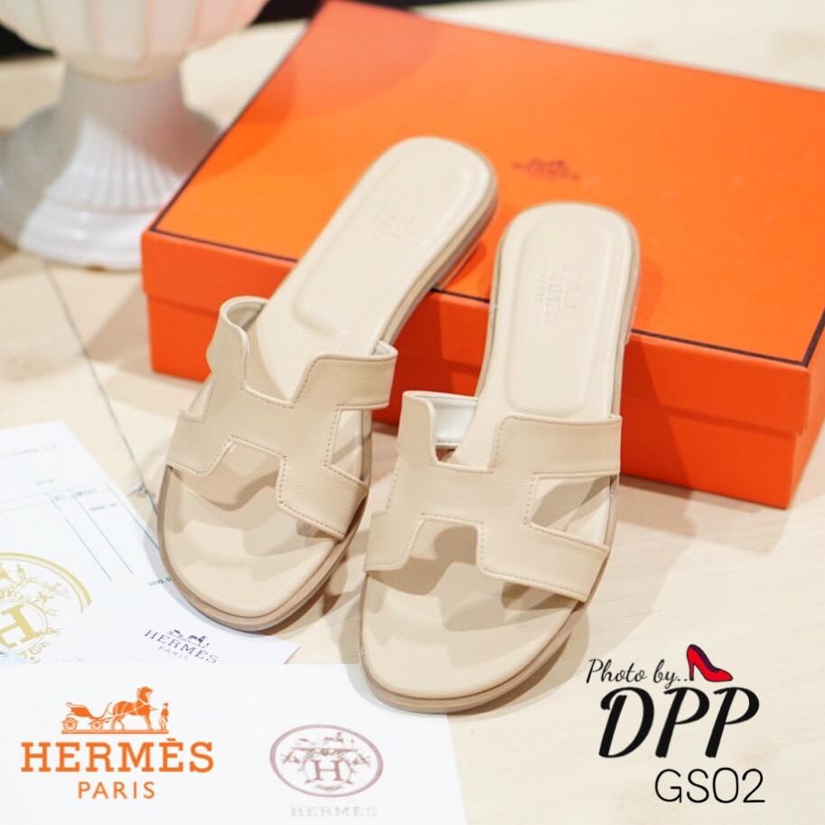 รองเท้าแตะ Style Hermes (สีครีม)
