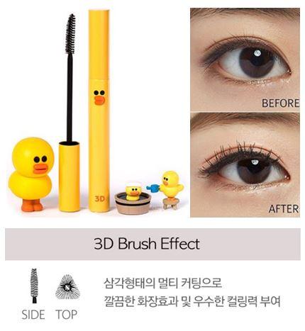 ** พร้อมส่ง**Missha 3D Mascara (Line Friends Edition) แพคเกจเป็ดน้อยแสนน่ารัก Sally มาสคาร่า 3D สร้างมิติให้กับขนตาของคุณให้เด่นชัดทะลุมิติกันสุด หัวแปรงเป็นลักษณะสามเหลี่ยม ช่วยทำให้ขนตายาวขึ้น ขนตาเรียงเส้นสวย ไม่จับเกาะ กันเป็นก้อน เนื้อมาสคาร่ ,