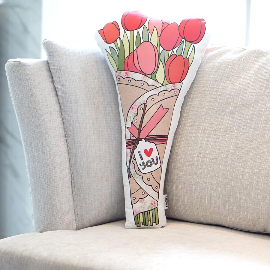 หมอนช่อทิวลิปสีแดง Tulip Bouquet