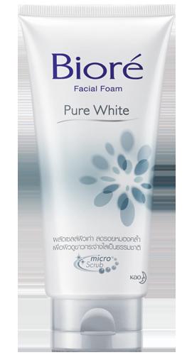 Biore Facial Foam Pure White บิโอเร เฟเชี่ยล โฟม เพียว ไวท์