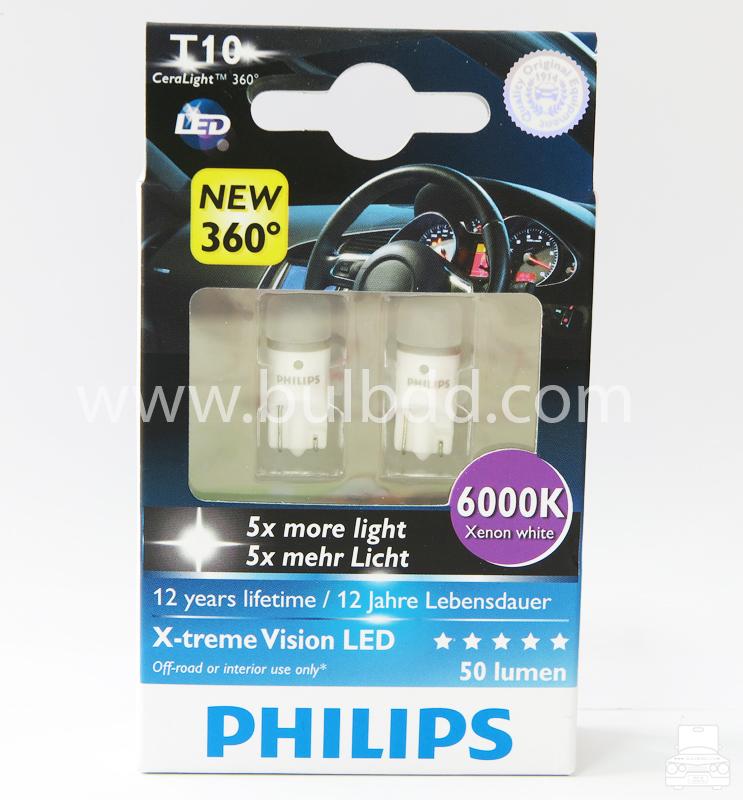 Philips X-Treme CeraLight 360 T10/W5W 6000K