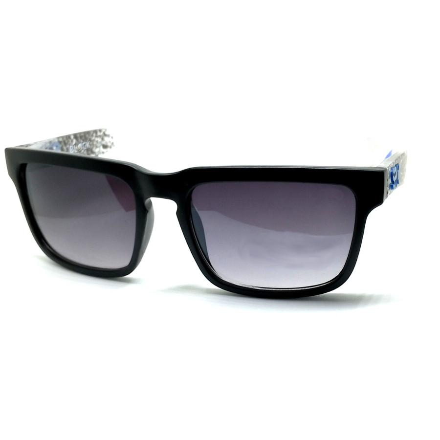 แว่นกันแดด SPY P ลายสีฟ้า กรอบดำ เลนส์ดำ(14,5.8)