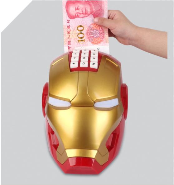 กระปุกออมสินตู้เซฟไอรอนแมน Iron Man Safe Bank