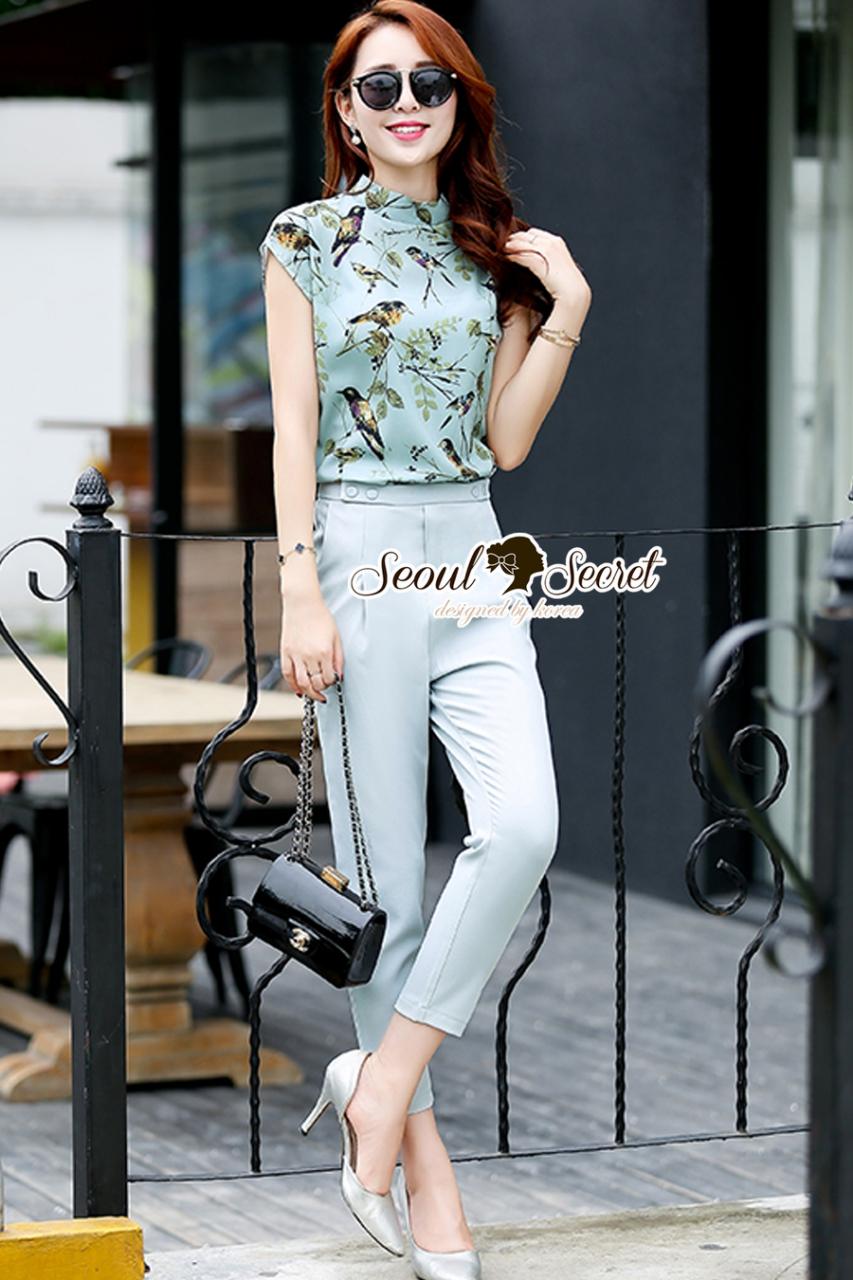 Seoul Secret Say's... Birdly Pastel Mintly Chic Set