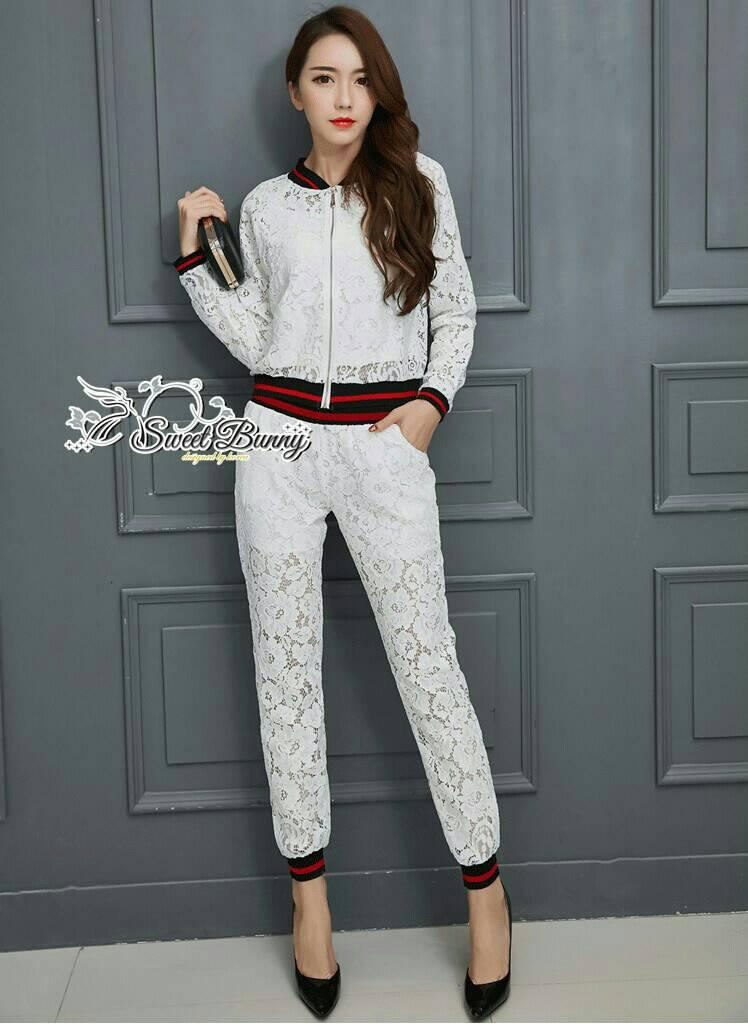 Sweet Bunny Present... Lace Sport Pants Set
