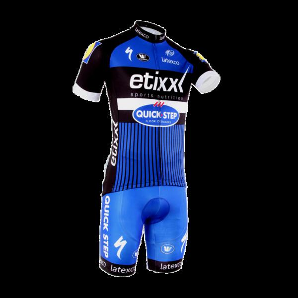 พร้อมส่ง >> ชุดปั่นจักรยาน New 2016 รุ่นใหม่ล่าสุด Quick Step ชุดโปรทีมจักรยาน (น้ำเงิน)
