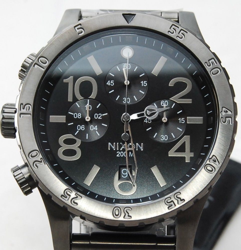 นาฬิกา NIXON Men Chronograph Chronograph Black Dails Watch A486632 48-20