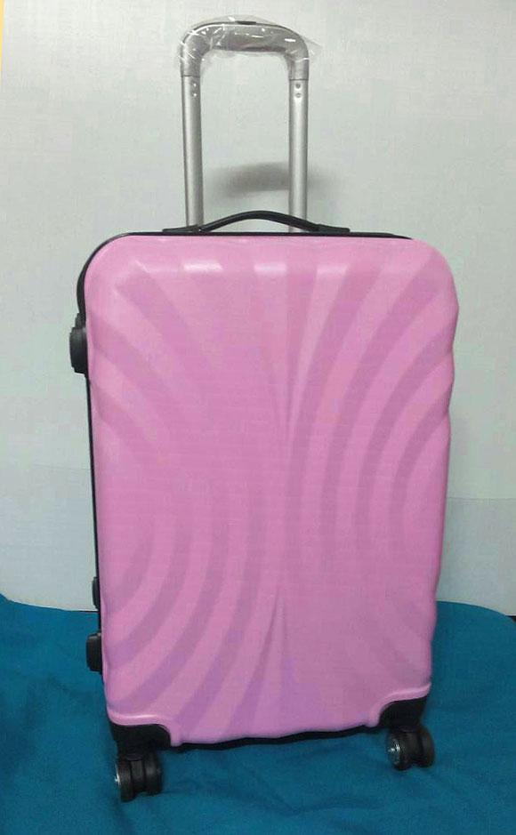 กระเป๋าเดินทางราคาถูก 24 นิ้ว ลายพัดสีชมพู ของใหม่ คุณภาพดี