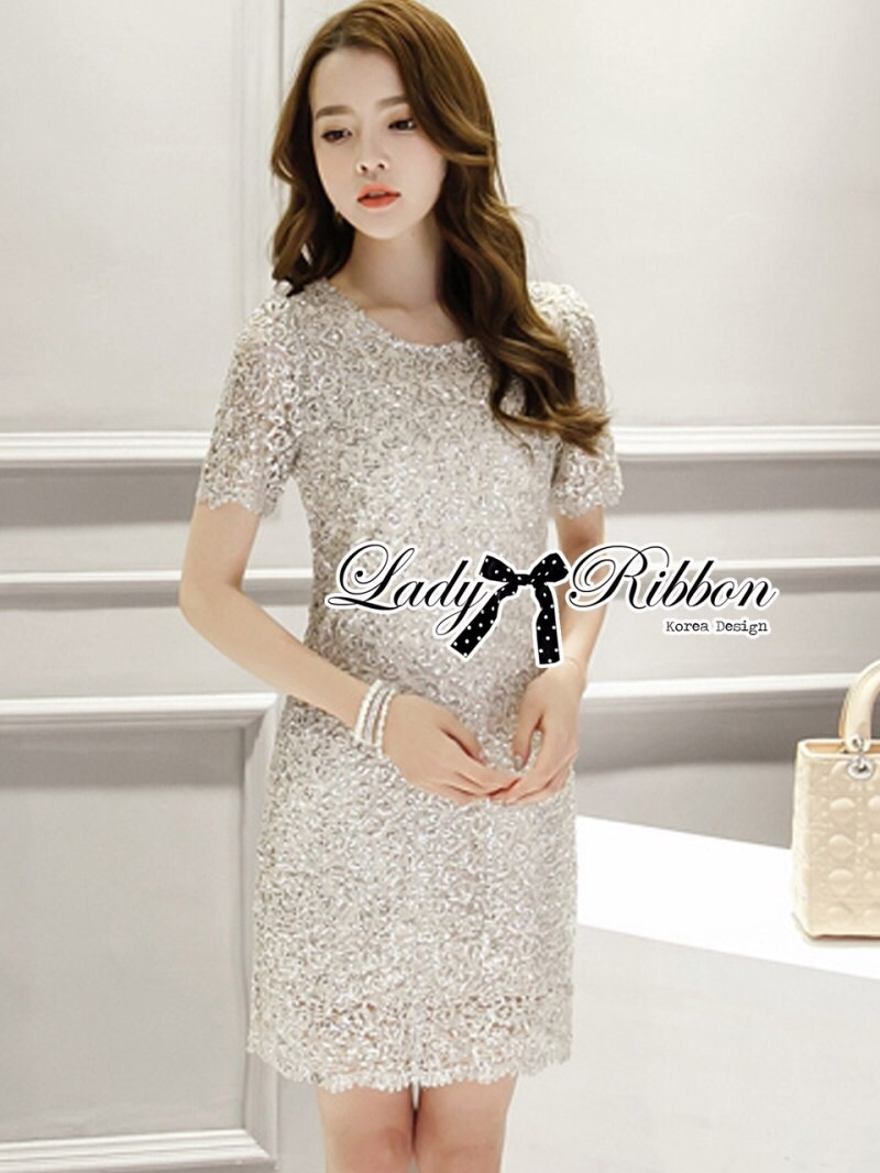 Lady Ribbon's Made Lady Annie Ultimate Luxury Glitter Lace Dress