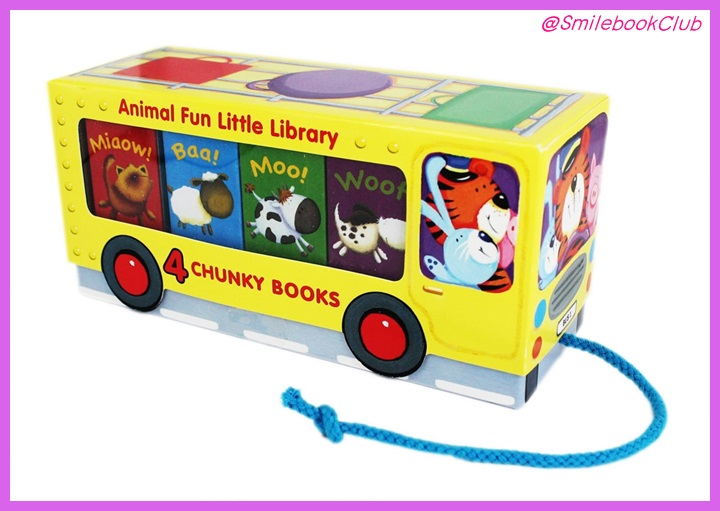 Animal Fun Little Library 4 Chunky Books