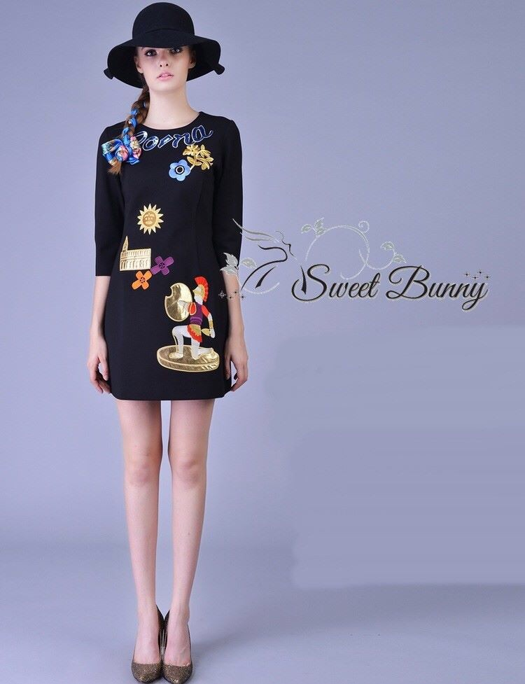 D&G Roma shine embroidery dress SS16 by Sweet Bunny