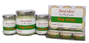 SenOdos เทียนหอม อโรม่า เทียนหอม ไล่ยุง ไล่แมลง ไล่หนู Soy Candles Bug Away Set