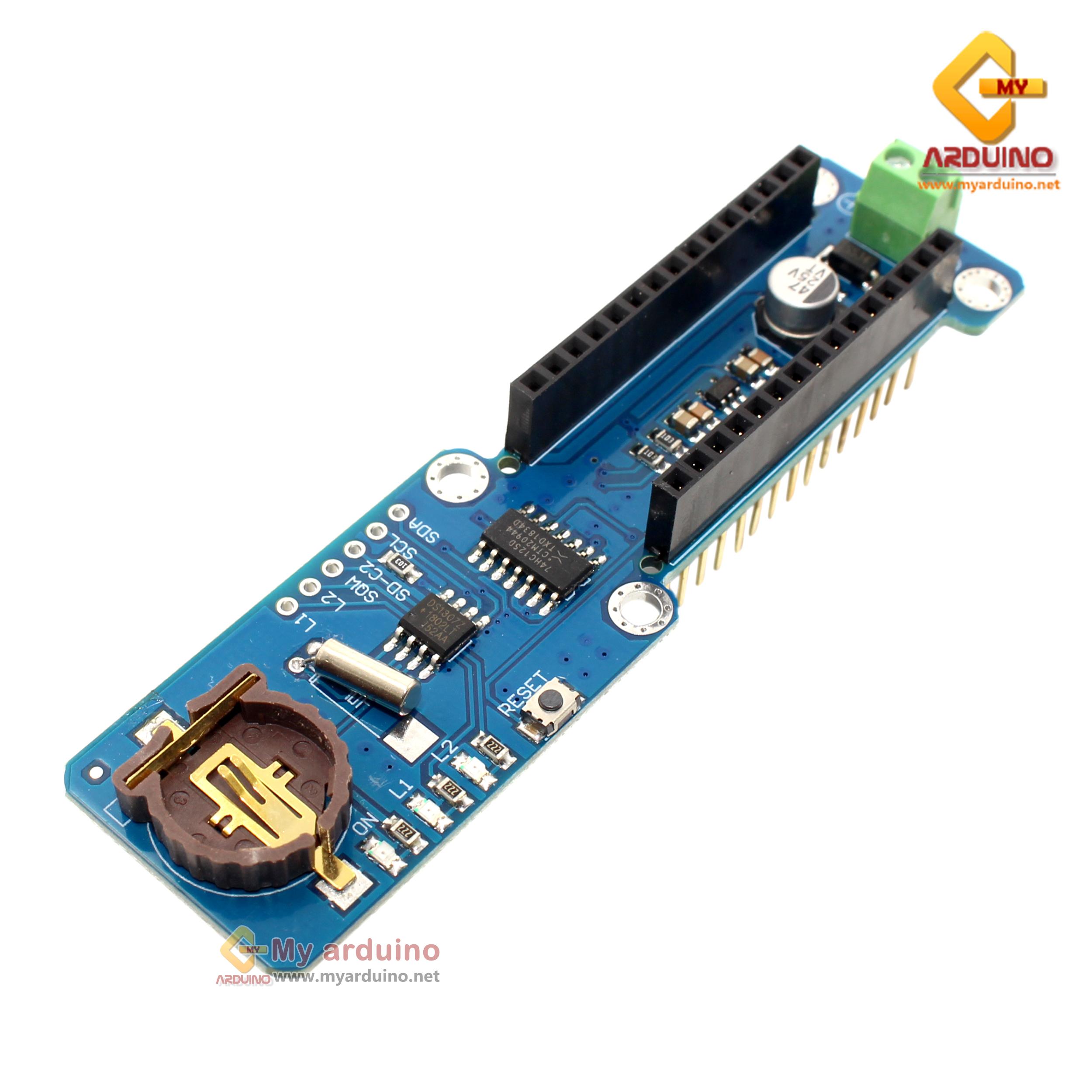 Data Logger nano Shield สำหรับ Arduino Nano sd card DS1307