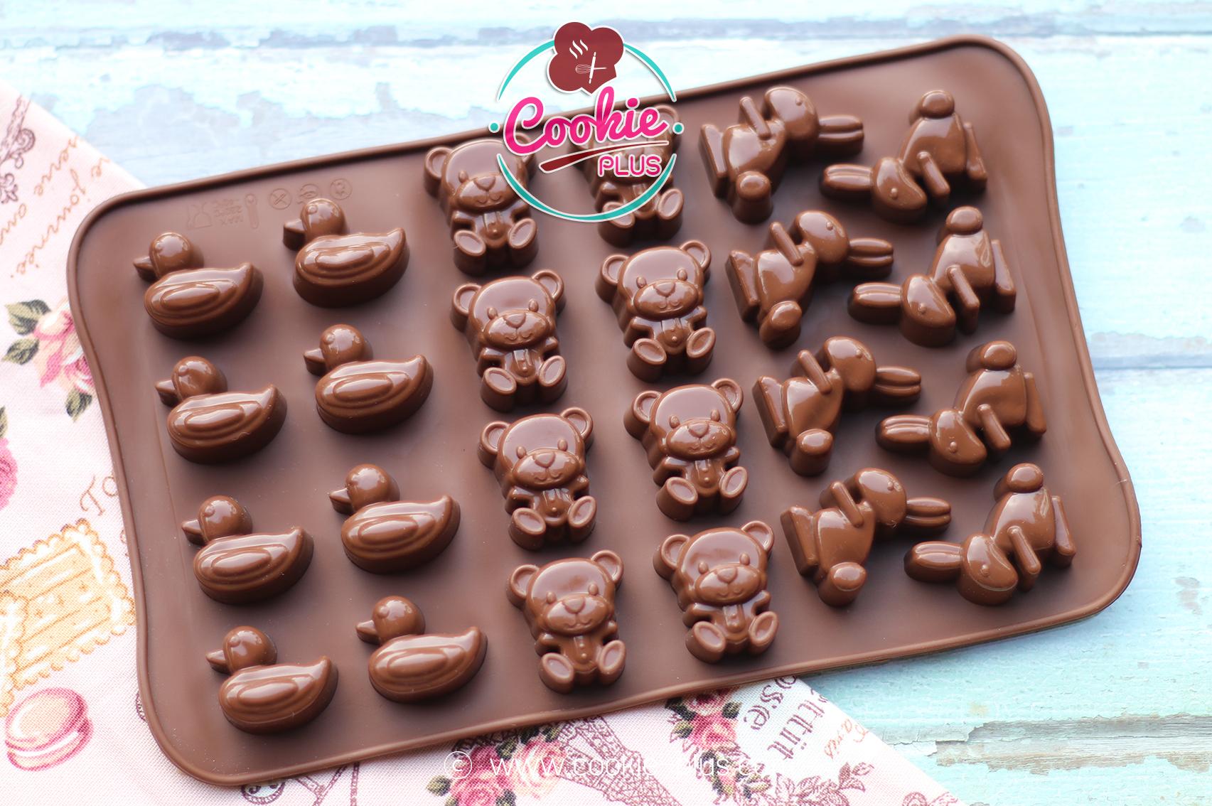 แม่พิมพ์ซิลิโคนทำขนม รวมลาย เป็ด หมี กระต่าย
