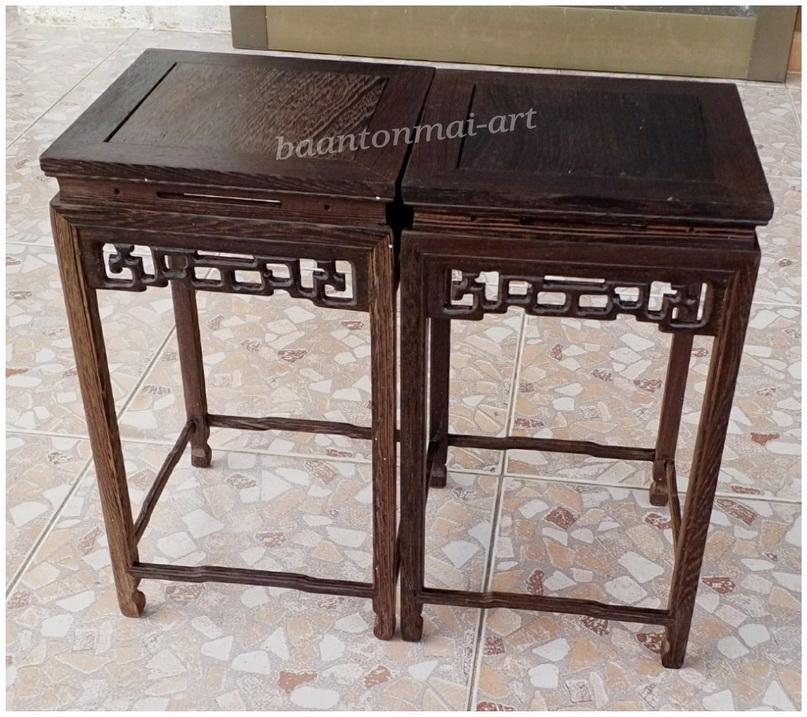 ตั่ง กี๋ หรือโต๊ะเล็กๆวางของตั้งโชว์ สูง 30.5 cm คู่ละ