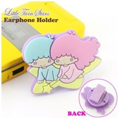 คลิบหนีบสายหูฟัง Sanrio Little Twin Stars ลิขสิทธิ์ Sanrio แท้ ใช้สำหรับหนีบสายหูฟังไม่ให้พันกันค่ะ