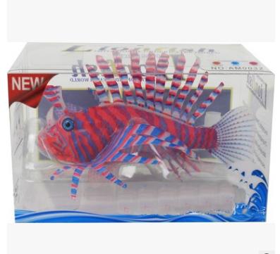 ปลาสิงโตซิลิโคลนเรืองแสงสีแดง+ฟ้า(ตัวใหญ่)