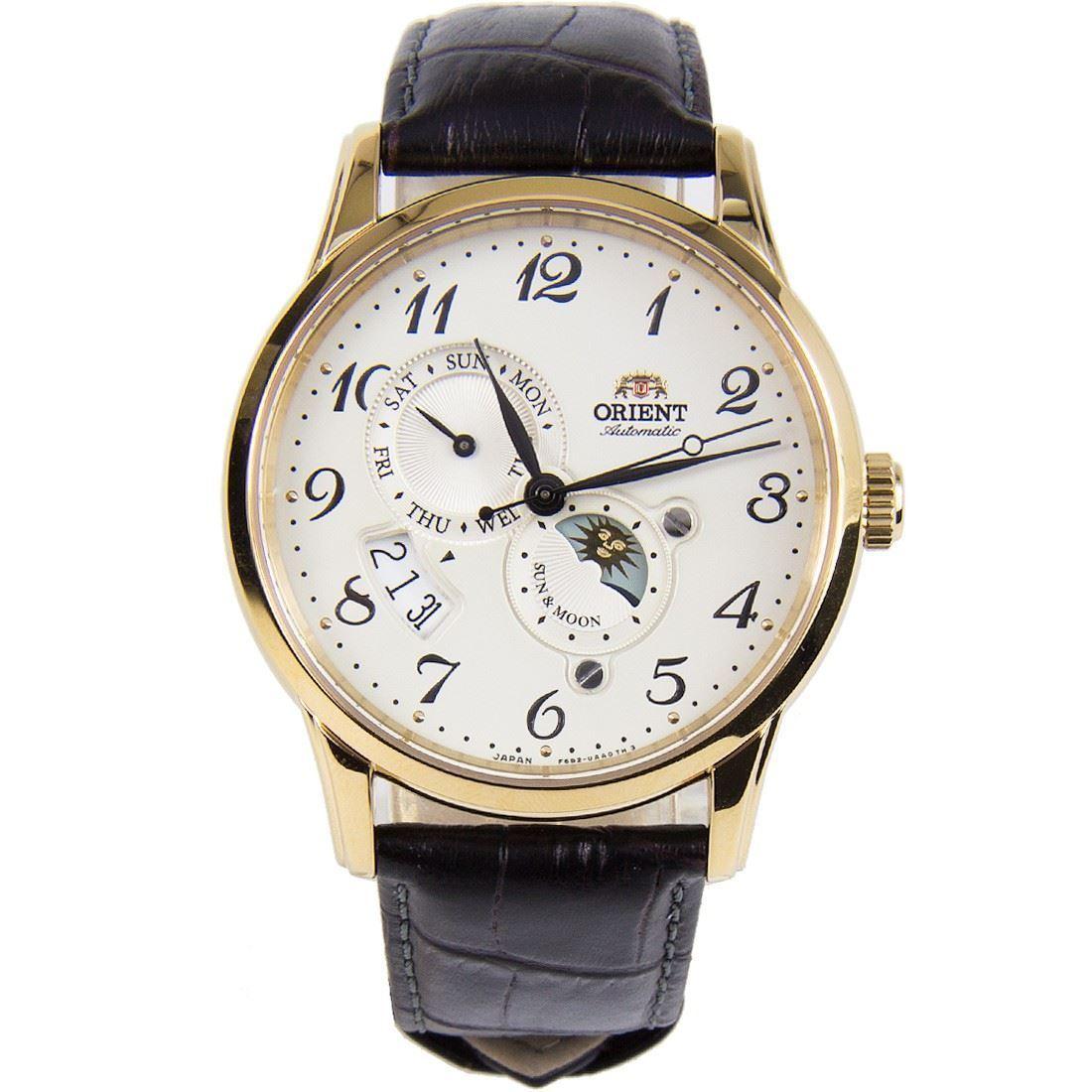นาฬิกาผู้ชาย Orient รุ่น RA-AK0002S00B, Automatic Sun And Moon Japan Made Men's Watch