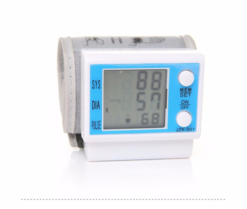 Fully Automatic Digital Wrist Blood Pressure Monitor เครื่องวัดความดันโลหิต ชีพจร แบบพกพา รุ่นJZK-001