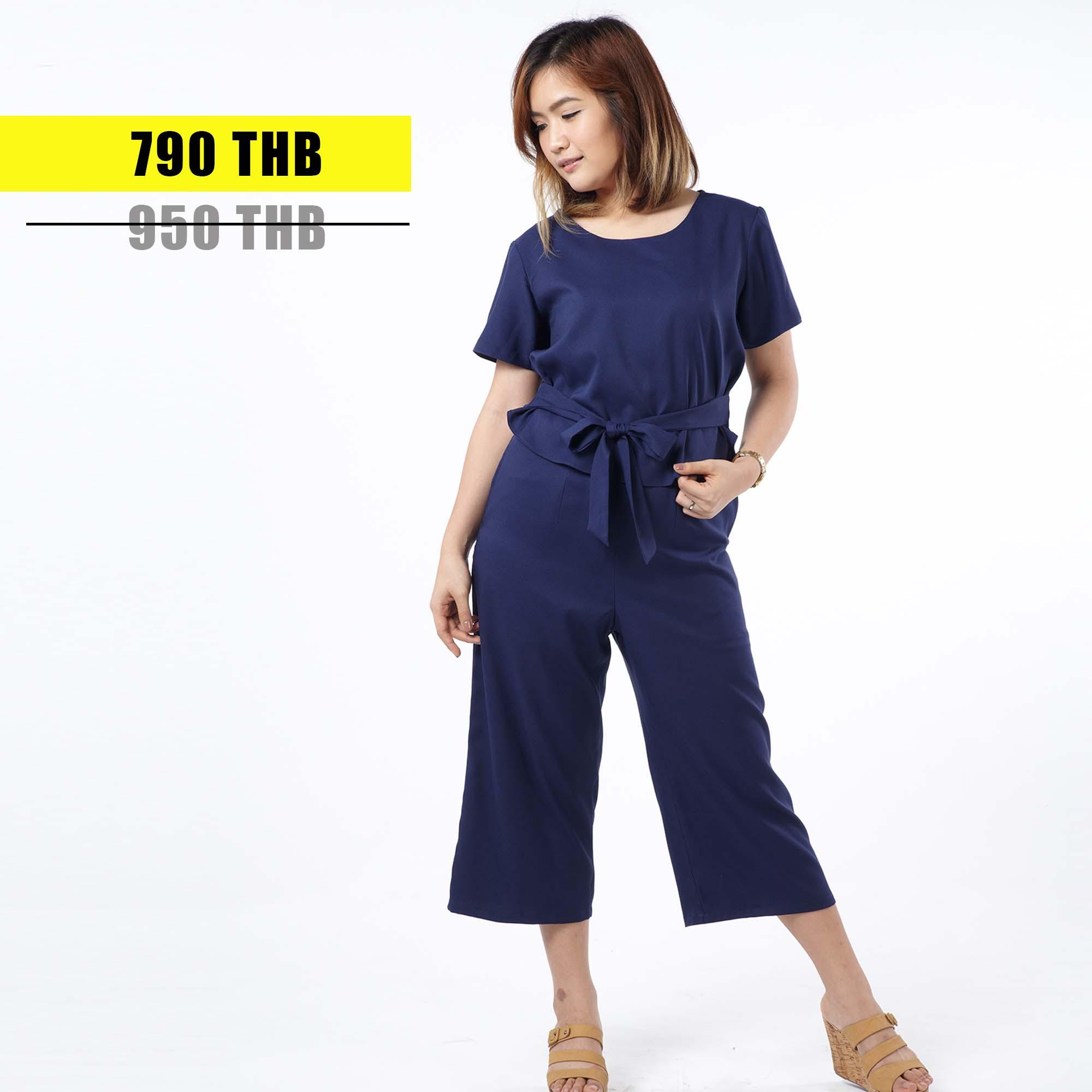 ชุดให้นม Phrimz : Jazzi Breastfeeding Jumpsuit - Navy Blue สีกรมท่า