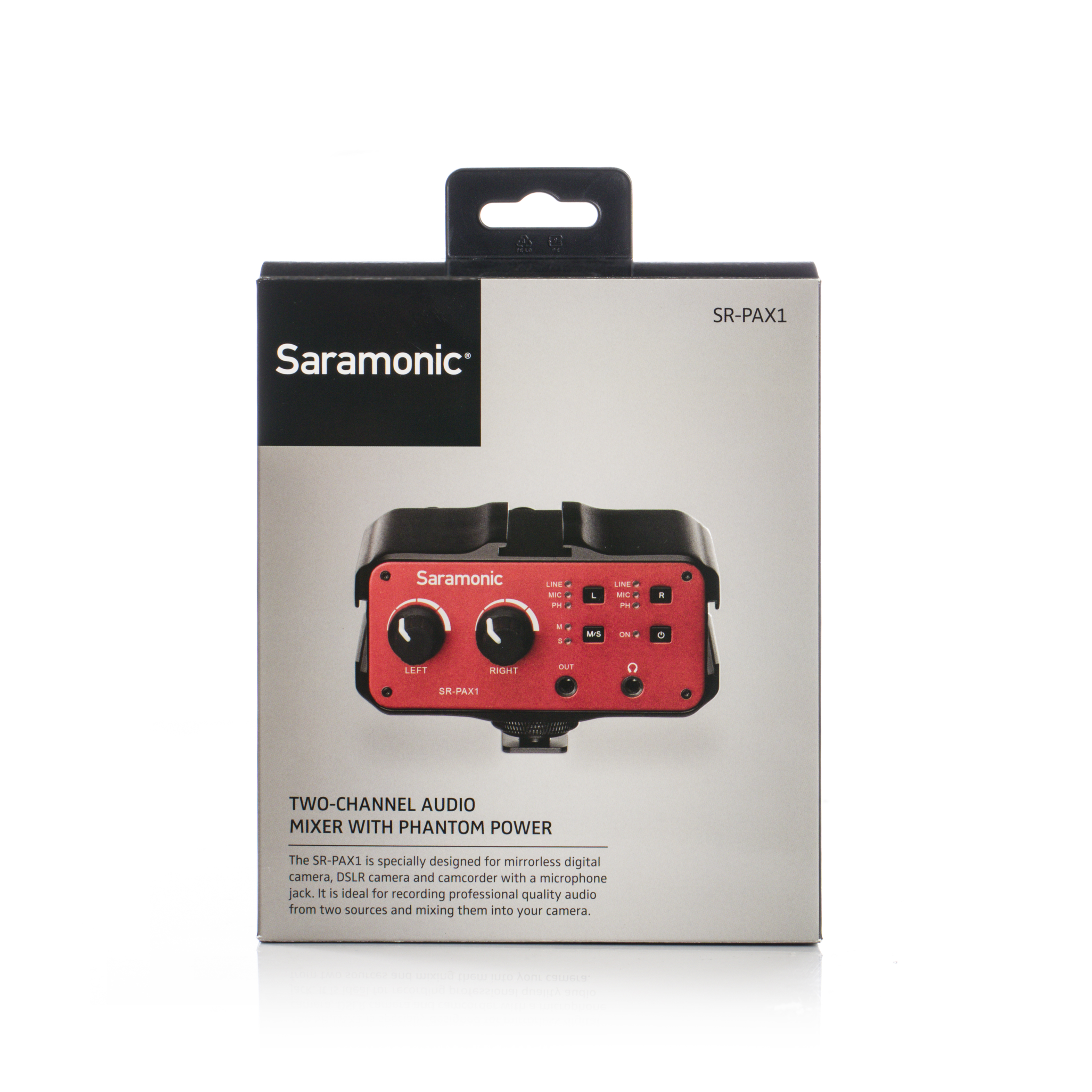 Saramonic SR-PAX1 Audio Mixer 2-Channel Preamp Microphone Adapter with Dual  XLR/ 6 3mm/ 3 5mm Inputs