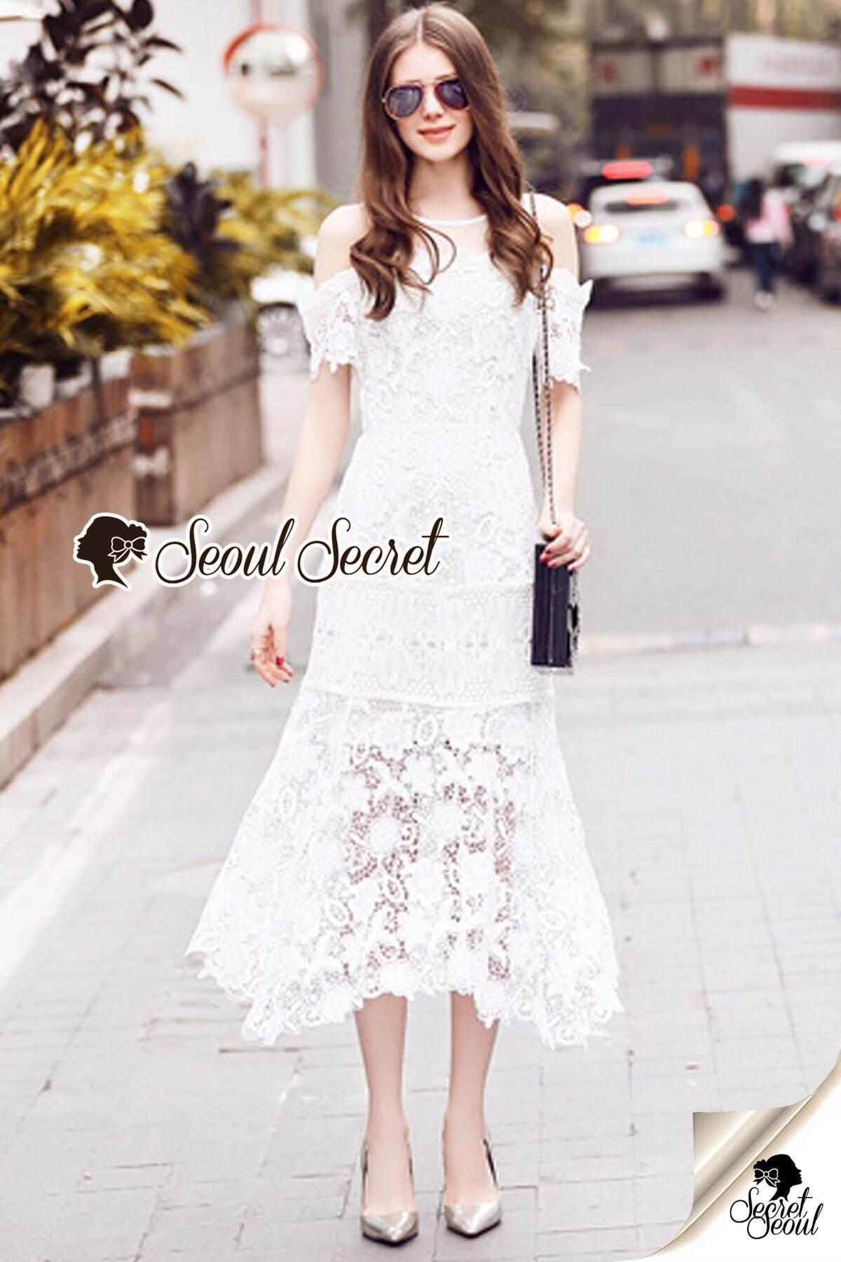 Seoul Secret Say's... Princess Daisy Curlv Lace MaxiDress