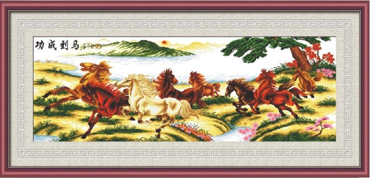 Eight horses 3 (พิมพ์ลาย)