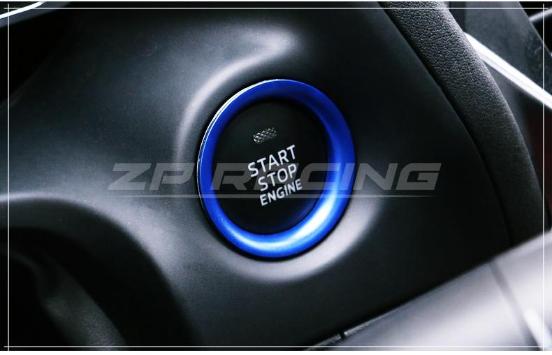 แหวนครอบปุ่ม Start CX-3 สีฟ้า