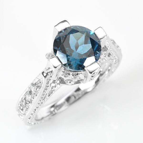 แหวนพลอยแท้ แหวนเงินแท้ 925 พลอยโทปาสประดับด้วยเพชร CZ แหวนชุบทองคำขาว