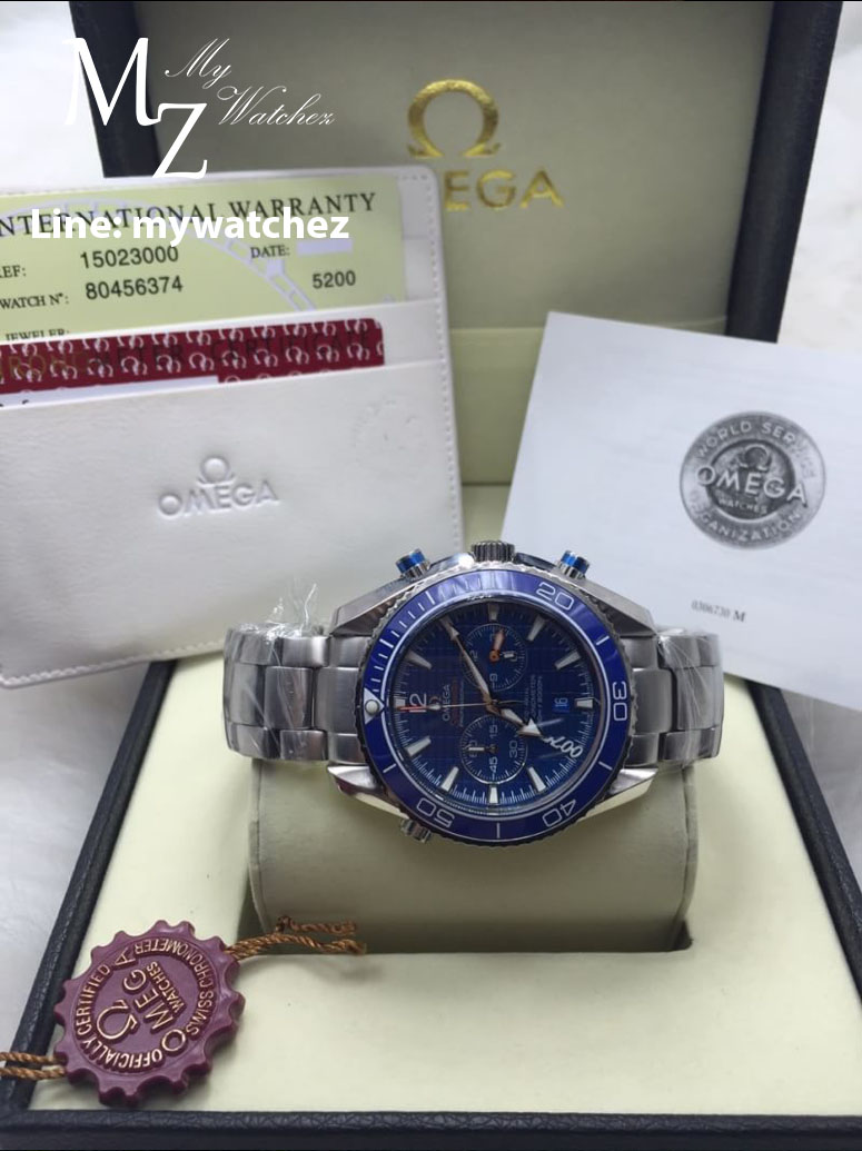 OMEGA SEAMASTER PLANET OCEAN 600 M OMEGA CO-AXIAL CHRONOGRAPH - Blue Stainless