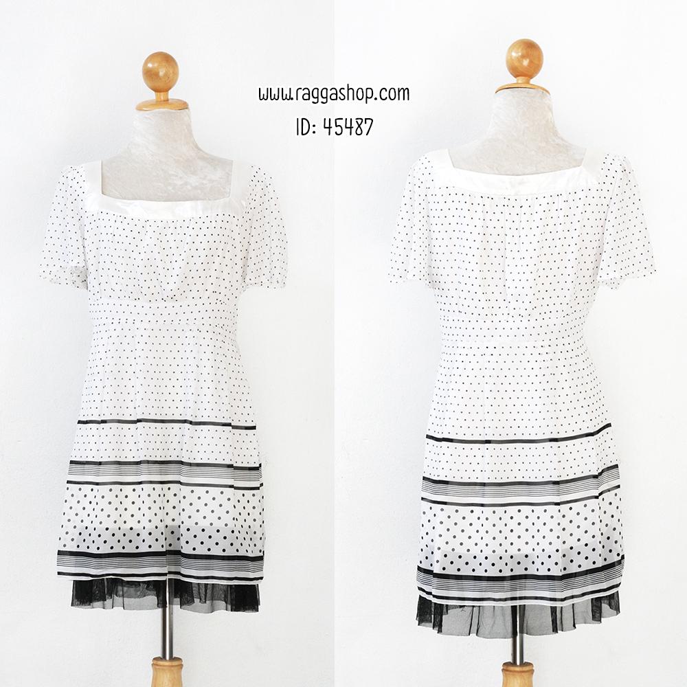 45487 44-36-48 เดรสสีขาว (ID 6456 จองคะ)